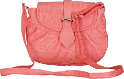 Leather Land Girls, Women Pink PU Sling Bag