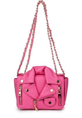 Amatra Girls, Women Evening/Party, Casual, Formal, Festive Pink Leatherette Sling Bag