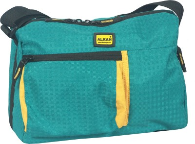 Alkah Men Blue PU Sling Bag