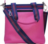Firangi Women Pink Rexine Hand-held Bag