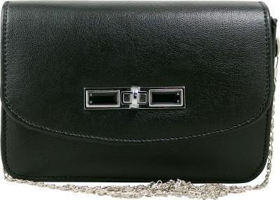 Hydes Girls Black Leatherette Sling Bag