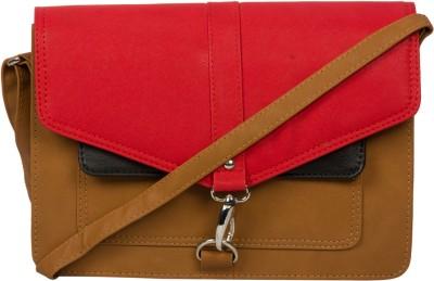 Adaira Girls Casual Red PU Sling Bag