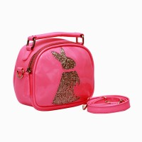 Clocharde Girls Pink PU Sling Bag