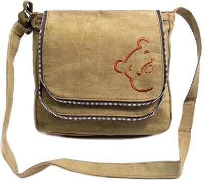 Belladona Women Evening/Party Beige Leatherette Sling Bag