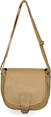 Bags Craze Women Tan PU Sling Bag