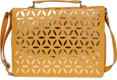 zasmina Girls, Women Gold Leatherette, PU Sling Bag