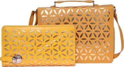 zasmina Girls, Women Gold PU Shoulder Bag