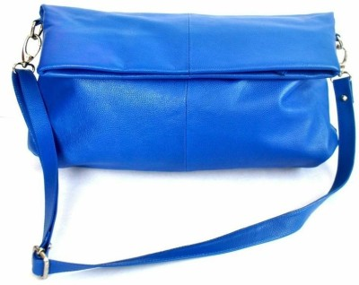 Modish Women Casual, Evening/Party Blue Genuine Leather Sling Bag