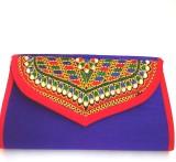 Indian Swan Women Blue Cotton Sling Bag