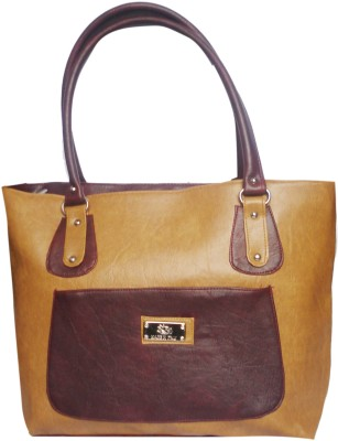 WEEBILL Women Beige, Maroon PU Shoulder Bag