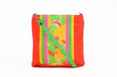 Stylocus Women Casual Orange Silk Sling Bag