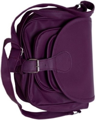 Cottage Men, Women Purple Canvas Sling Bag