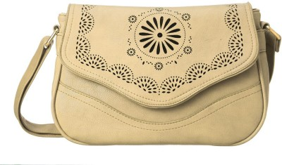 Cappuccino Women Casual White Leatherette Sling Bag