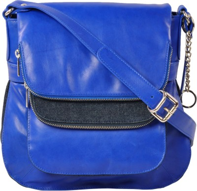 ROSTIG Women Blue Genuine Leather Sling Bag