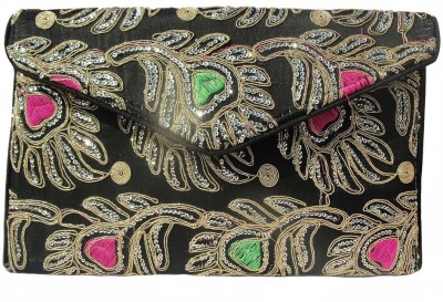 ALAR Women, Girls Black Silk Sling Bag