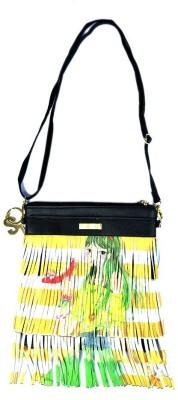 Stylathon Girls Yellow PU Sling Bag