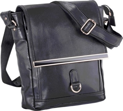 Stylo Junction Men Black Leatherette Sling Bag