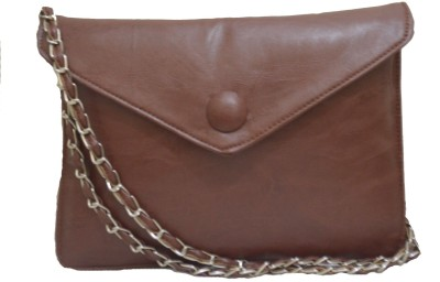Felicita Women Casual Brown PU Sling Bag