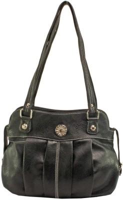 JM Women Black Leatherette Sling Bag