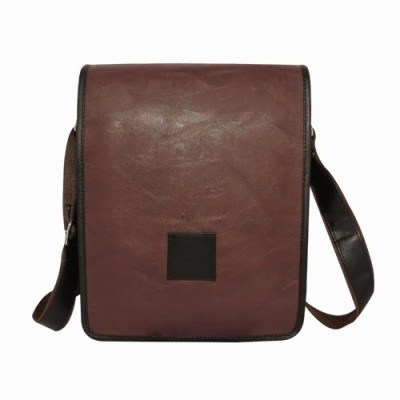 Chimera Leather Men, Women Casual, Formal Brown Leatherette Sling Bag