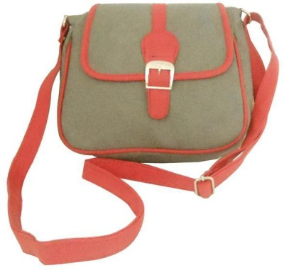 Clicktin Girls Grey Acrylic Sling Bag