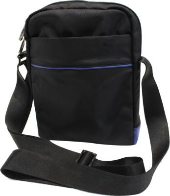 American-Elm Men Casual Black Nylon Sling Bag