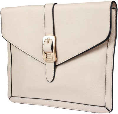 Fiza Women Beige Leatherette Sling Bag