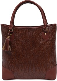 Aditya Vikram Design Studio Women Brown Leatherette Hand-held Bag