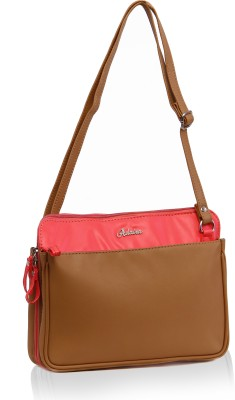 Adaira Girls Casual Beige PU Sling Bag