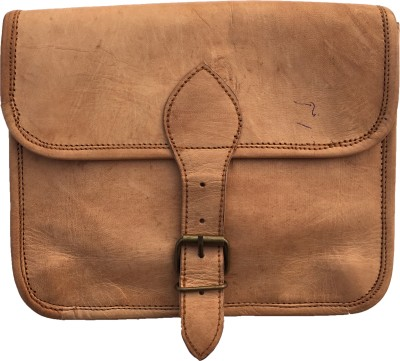Rstore Boys, Girls, Women Brown Genuine Leather Sling Bag