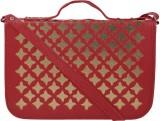 Coash Women Red PU Sling Bag