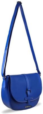Touristor Women Blue Leatherette Sling Bag