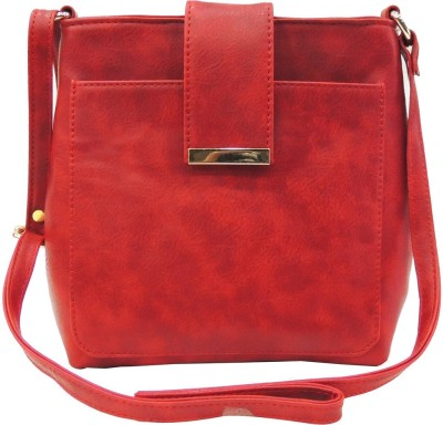Madame Exclusive Girls, Women Red Leatherette Sling Bag