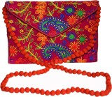 Vedic Deals Women Pink Canvas Sling Bag