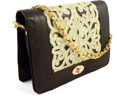 Claude Lorrain Women Casual Black Genuine Leather Sling Bag