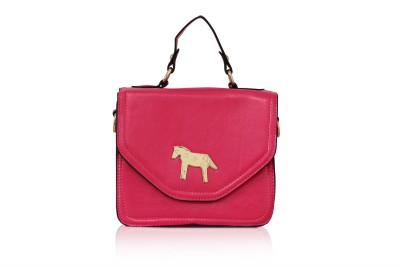 Hanuel Girls Pink Leatherette Sling Bag