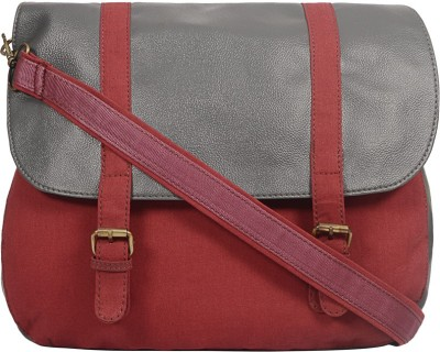 Purseus Women Casual Red Canvas Sling Bag
