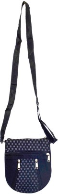 Mpkart Girls Casual Black Jute, Cotton Sling Bag