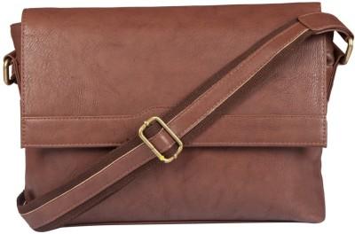 Lomond Men Formal Brown PU Sling Bag