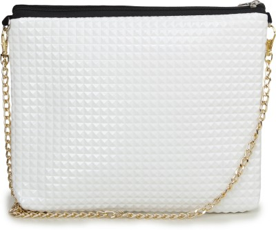 Unixx Girls Casual White PU Sling Bag