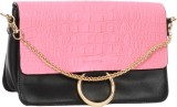 Kalon Women Casual Pink PU Sling Bag