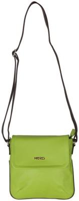 Merci Women Green PU Sling Bag