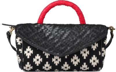 Goguava Women Black Jute Sling Bag