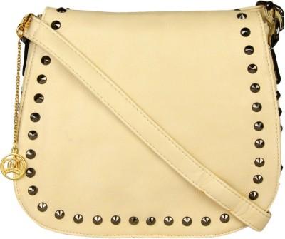 Moedbuille Women White PU Sling Bag