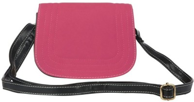 Just Women Women Casual Pink Leatherette Sling Bag