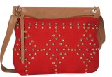 Kanvas Katha Women Red Canvas Sling Bag