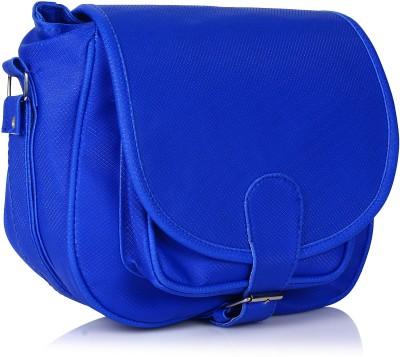 Prettyvogue Women Blue PU Sling Bag