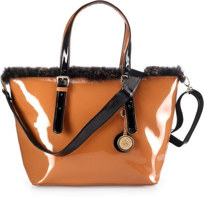 BY Bribe Yourself Women Casual Brown PU Shoulder Bag