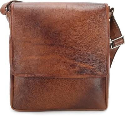 Newhide Men, Women Casual Tan Sling Bag