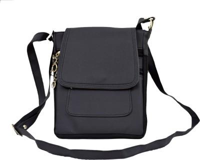 Apick Women Black Rexine Sling Bag